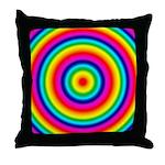 Rainbow Circles Pattern Throw Pillow