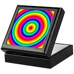 Rainbow Circles Pattern Keepsake Box