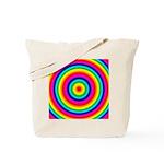 Rainbow Circles Pattern Tote Bag