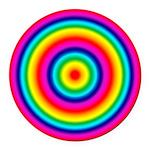 Rainbow Circles Pattern Round Car Magnet