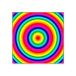 Rainbow Circles Pattern Square Sticker 3