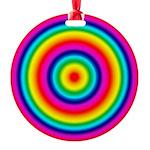 Rainbow Circles Pattern Round Ornament
