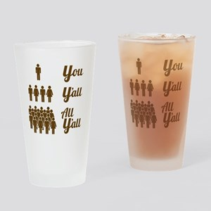 Texas Grammar Lesson Drinking Glass