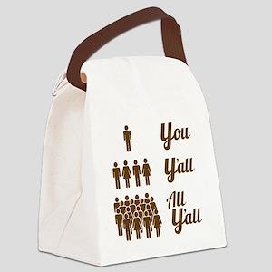 Texas Grammar Lesson Canvas Lunch Bag