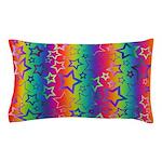 Rainbow Stars Pattern Pillow Case