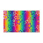 Rainbow Stars Pattern 20x12 Wall Decal