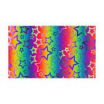 Rainbow Stars Pattern 35x21 Wall Decal