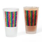 Rainbow Stars Pattern Drinking Glass