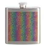 Rainbow Stars Pattern Flask