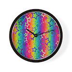 Rainbow Stars Pattern Wall Clock