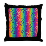 Rainbow Stars Pattern Throw Pillow