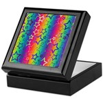 Rainbow Stars Pattern Keepsake Box