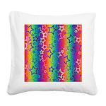 Rainbow Stars Pattern Square Canvas Pillow