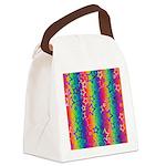 Rainbow Stars Pattern Canvas Lunch Bag