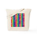 Rainbow Stars Pattern Tote Bag