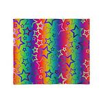 Rainbow Stars Pattern Throw Blanket