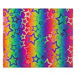 Rainbow Stars Pattern King Duvet