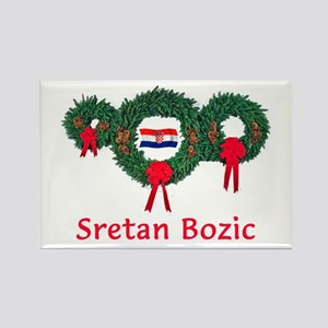 Croatia Christmas 2 Rectangle Magnet