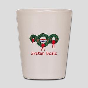 Croatia Christmas 2 Shot Glass