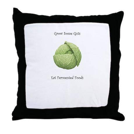 Eat Fermented Foods Throw Pillow