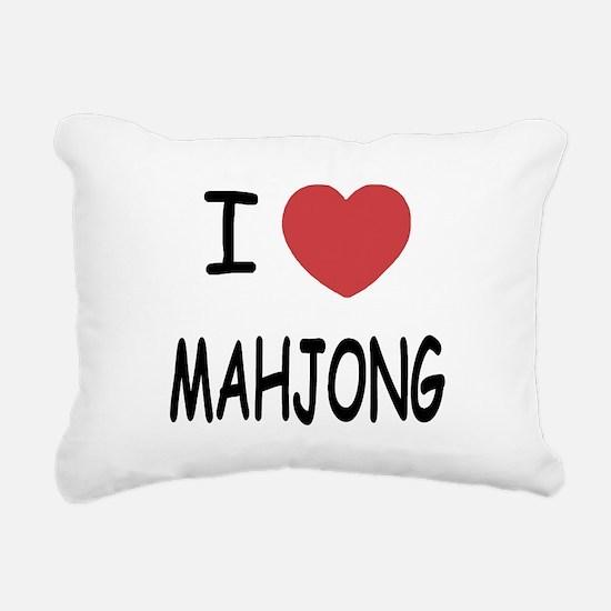MAHJONG.png Rectangular Canvas Pillow