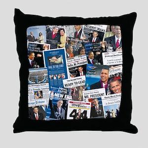 Historic Inauguration Headlines Throw Pillow