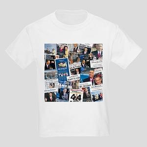 Historic Inauguration Headlines Kids Light T-Shirt