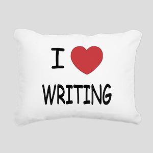 WRITING Rectangular Canvas Pillow