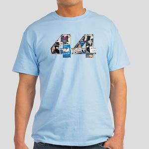 44: Obama Inauguration Newspa Light T-Shirt