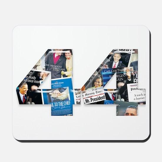 44: Obama Inauguration Newspaper Mousepad