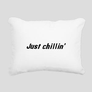 just_chillin Rectangular Canvas Pillow