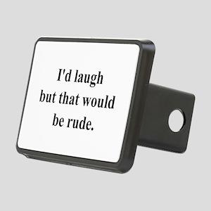 rude_laugh Rectangular Hitch Cover