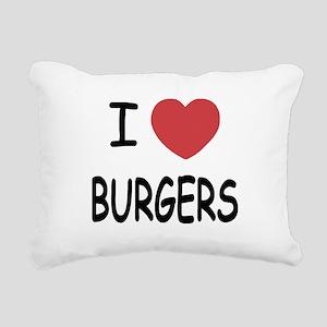 BURGERS Rectangular Canvas Pillow