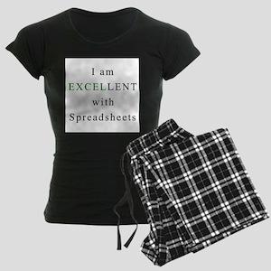 Excellent Spreadsheets Women's Dark Pajamas
