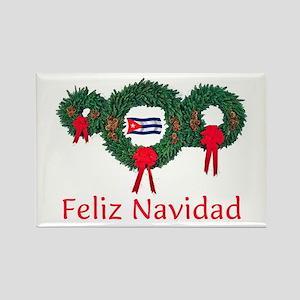 Cuba Christmas 2 Rectangle Magnet
