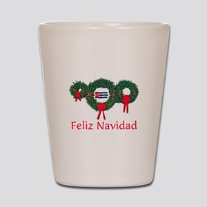 Cuba Christmas 2 Shot Glass