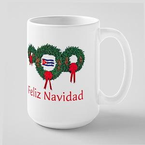 Cuba Christmas 2 Large Mug