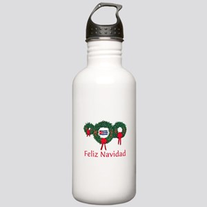 Cuba Christmas 2 Stainless Water Bottle 1.0L