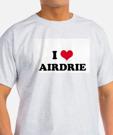 I HEART AIRDRIE  Ash Grey T-Shirt