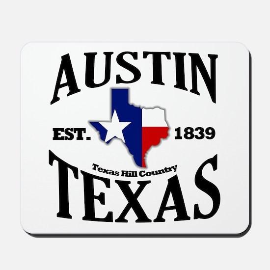 Austin, Texas - Texas Hill Country Towns Mousepad
