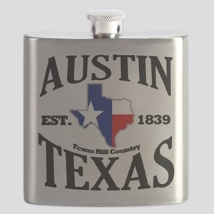 Austin, Texas - Texas Hill Country Towns Flask