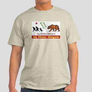 No More Illegals! Ash Grey T-Shirt