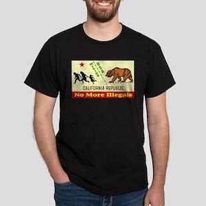 No More Illegals! Black T-Shirt