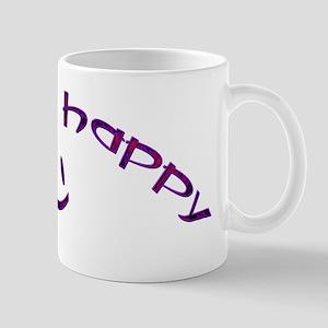 Be Happy Smiley - Purple Mug