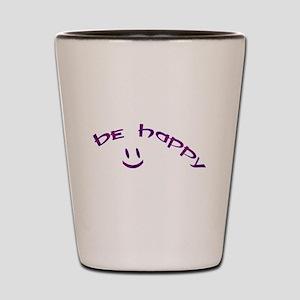 Be Happy Smiley - Purple Shot Glass