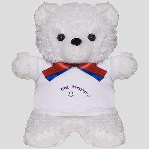 Be Happy Smiley - Purple Teddy Bear