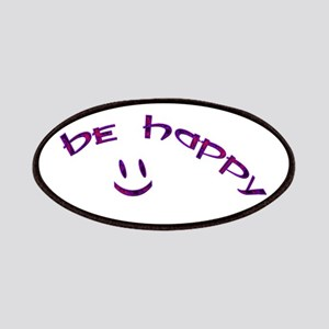 Be Happy Smiley - Purple Patches