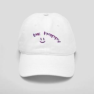 Be Happy Smiley - Purple Cap