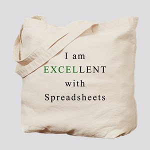 Excellent Spreadsheets Tote Bag