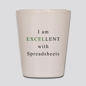 Excellent Spreadsheets Shot Glass